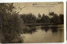 Окрестности слободы Кукарки №26. Пруд близ лесной школы. Историческое фото.