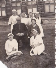 Коллектив больницы 40-50-ые