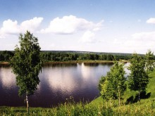 река Вятка у Вятских Полян