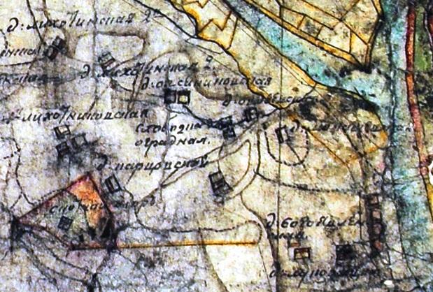 Часть плана генерального межевания Вятской губернии 1796 г.(1 верста)