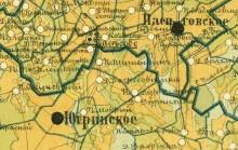 Карта 1886 Вятский уезд