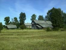 Вид с поля на деревню Тарасовы