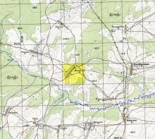 Часть карты O-39-063-Г 1967 года с деревней Фокинцы.