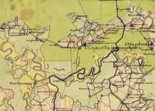Лысёнки на карте Слободского уезда (3 версты). 1893 г.