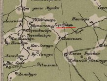 на карте Стрельбицкого