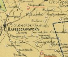 на карте 1888 г. Полянская (Ананьино) и Полянка (Волкова)