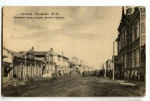 Слобода Кукарка №15. Казанская улица, направо женская гимназия. Историческое фото.