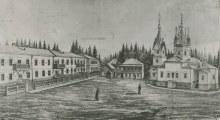Двор Аленксандро-Невского монастыря