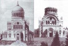 Аленксандро-Невский монастырь, Троицкий собор, эскиз и стройка