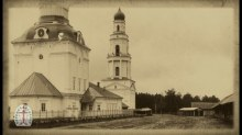 Церковь Преображения Господня (на переднем плане) и Илии Пророка (колокольня)
