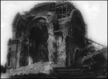 Аленксандро-Невский монастырь, Троицкий собор, взрывные работы