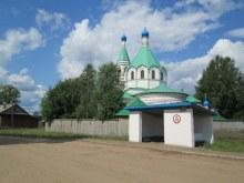 с. Пиксур. Церковь со стороны остановки