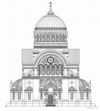 Аленксандро-Невский монастырь, Троицкий собор, чертеж