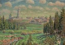 Картина «Начало мая. Рябово». 1918 г.  Художник: А. М. Васнецов.
