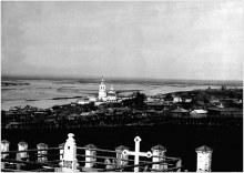 Село Усть-Чепца. Фото начала ХХ в. Вид на село с запада.
