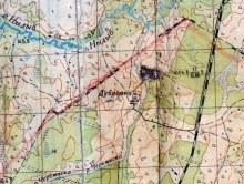 Дубровка на карте 1962 года