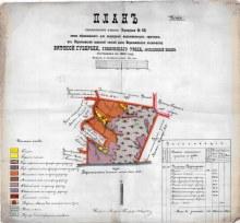 План поселенческого участка Воронушки № 50 (ГАПК Ф.716.Оп.3.Д.2317)