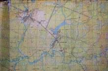 Карта прибл. 1950-1960-х  гг. Отмечен разъезд