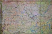 Топографическая карта 1950-х или 1960-х гг. Источник: vyatlag.ru
