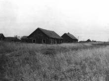 Улица в поселке Соз (бывший Трудпоселок № 4). Нагорский район Кировской области. Фото 29.08.1991