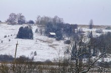 Так выглядит  деревня  с  дороги Киров-Казань.
