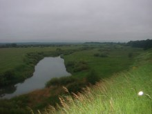 Фото Ал. Палкина. С горки в д.Жгули виден Сунский район.