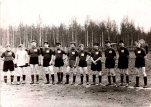 Поселковая футбольная команда 60-е годы