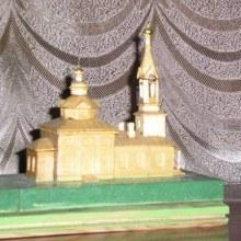Макет Филипповской церкви Пиштенура в  Тужинском краеведческом музее