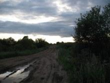 Вид из предполагаемого центра на запад в сторону с. Адышево