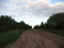 Вид из предполагаемого центра на восток (дорога на Жилое Адышево).