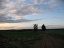 Вид на север с южной окраины, с самой высокой точки в Адышевском сельском округе.