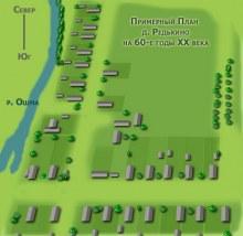 Примерный план деревни Редькино на 60-е годы 20 века.