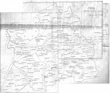 Самодельная карта Бельского района 1936 год