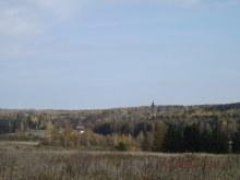 Вид на с. Ильинское со стороны бывшей д. Кропачи