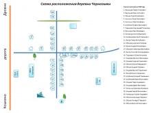 Расположение деревни Чернозьмы (составлена со слов жителей)